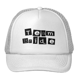 Team Bride Sq Blk Mesh Hat