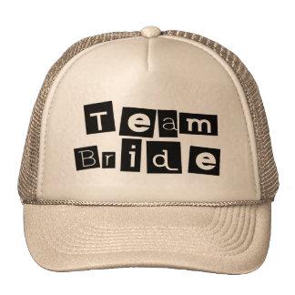 Team Bride Sq Blk Trucker Hat