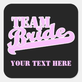 Team Bride Square Sticker