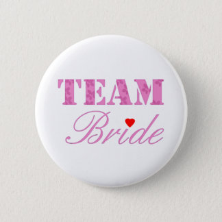 Team Bride Theme 6 Cm Round Badge