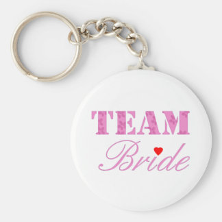 Team Bride Theme Basic Round Button Key Ring