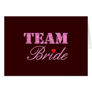 Team Bride Theme Card