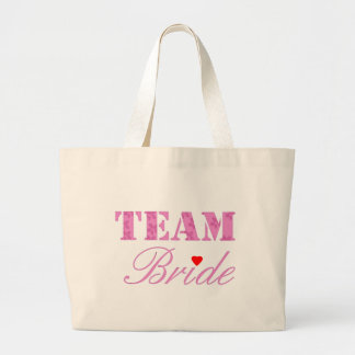 Team Bride Theme Large Tote Bag