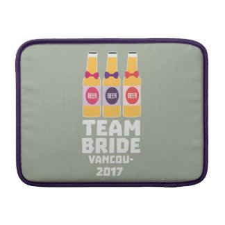 Team Bride Vancouver 2017 Z13n1 MacBook Sleeve
