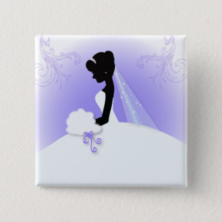 Team bride Wedding gown Bride bridal silhouette 15 Cm Square Badge