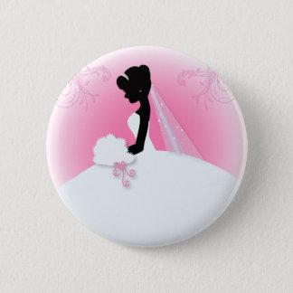 Team bride Wedding gown Bride bridal silhouette 6 Cm Round Badge