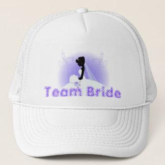 Team bride Wedding gown Bride bridal silhouette Trucker Hat