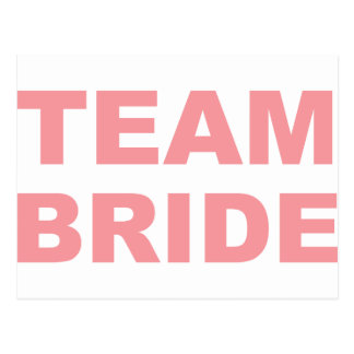 Team Bride Wedding Hen Party Postcard