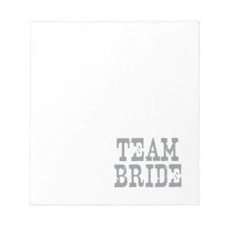 Team Bride Western Grey Notepad
