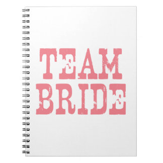 Team Bride Western Pink Notebook