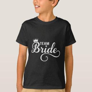 Team Bride, white text design for dark t-shirt