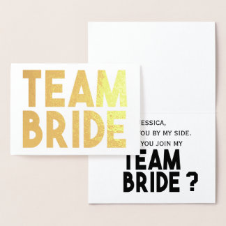 Team Bride - Will You Be My Bridesmaid Card