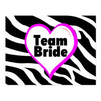 Team Bride (Zebra Print) Postcards
