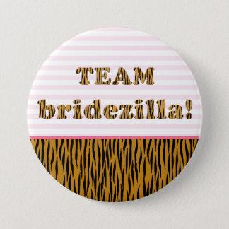 Team Bridezilla | Tigerprint Pinback Button