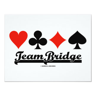 Team Bridge 11 Cm X 14 Cm Invitation Card