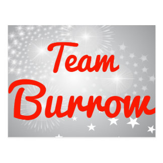 Team Burrow Post Cards