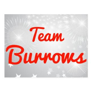 Team Burrows Postcards