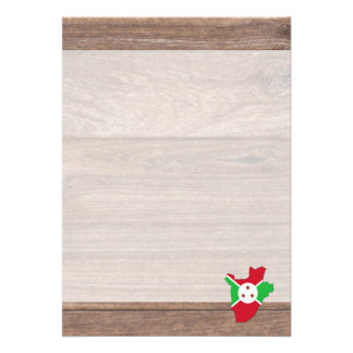Team burundi Flag Map on Wood 13 Cm X 18 Cm Invitation Card