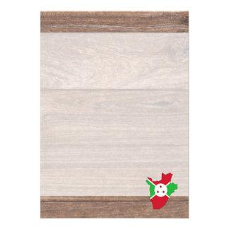 Team burundi Flag Map on Wood 13 Cm X 18 Cm Invitation Card
