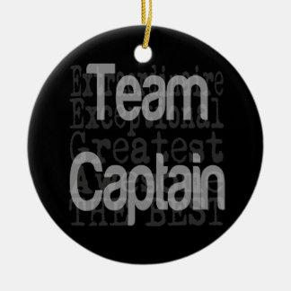 Team Captain Extraordinaire Round Ceramic Decoration