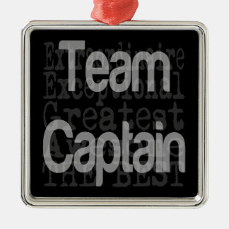 Team Captain Extraordinaire Silver-Colored Square Decoration