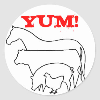 Team Carnivore Classic Round Sticker