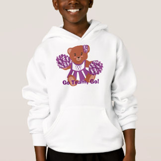 Team Colors Cheerleader Bear Hoodie