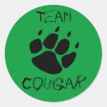 Team Cougar Round Sticker
