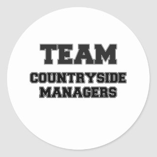 Team Countryside Managers Round Stickers
