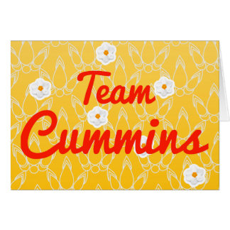 Team Cummins Greeting Card