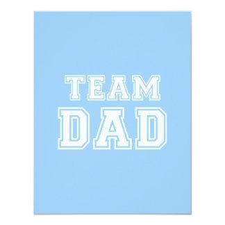 "Team Dad in blue 4.25"" X 5.5"" Invitation Card"