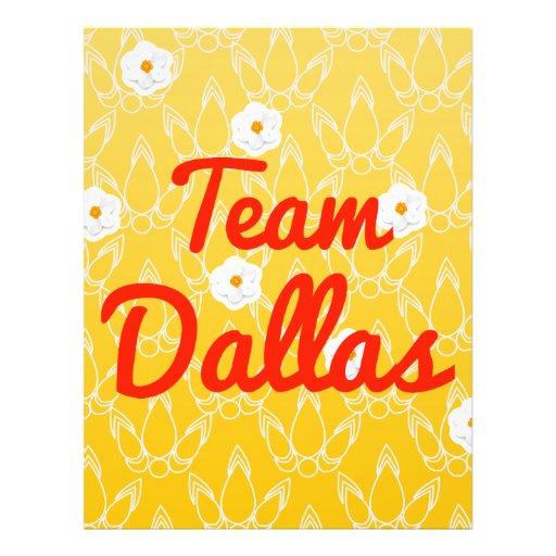 Team Dallas Custom Flyer
