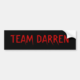 TEAM DARREN BUMPER STICKER