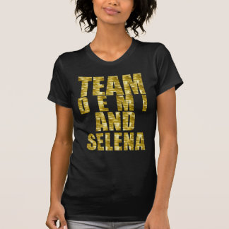 TEAM Demi & Selena Gold T-Shirt
