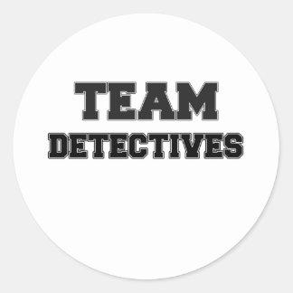 Team Detectives Round Sticker