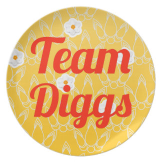Team Diggs Dinner Plates