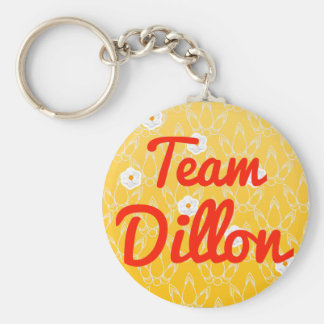 Team Dillon Basic Round Button Key Ring