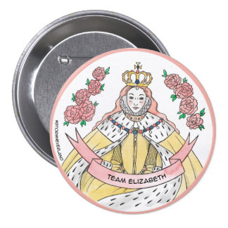 Team Elizabeth 7.5 Cm Round Badge