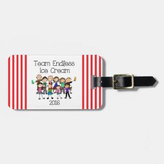Team Endless Ice Cream Luggage Tag