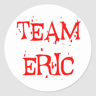 Team Eric Classic Round Sticker