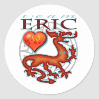 Team Eric Round Stickers
