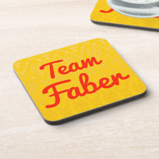 Team Faber Beverage Coasters