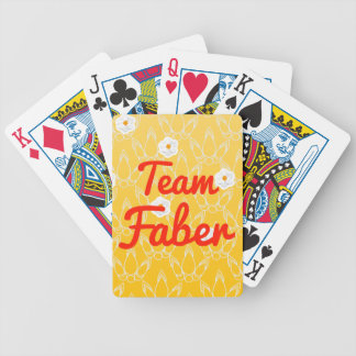Team Faber Bicycle Card Deck