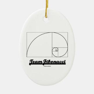 Team Fibonacci (Fibonacci Spiral) Christmas Ornament