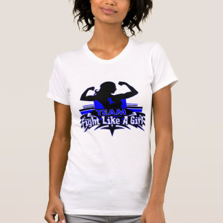 Team Fight Like a Girl - Anal Cancer T-shirts
