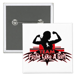 Team Fight Like a Girl - Bone Cancer 15 Cm Square Badge