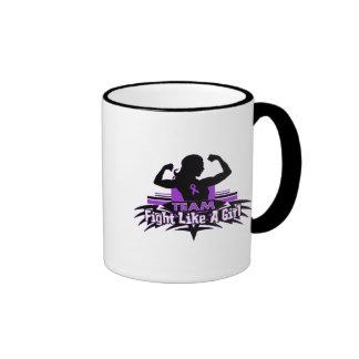 Team Fight Like a Girl - Fibromyalgia Ringer Mug