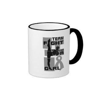Team Fight Like A Girl Kick Brain Cancer Coffee Mug
