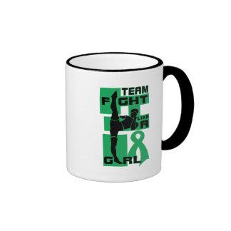 Team Fight Like A Girl Kick Liver Cancer Coffee Mugs