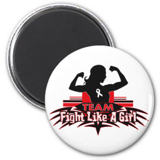 Team Fight Like a Girl - Lung Cancer 6 Cm Round Magnet